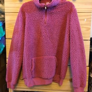 Sweaters - Super fuzzy pink pull over